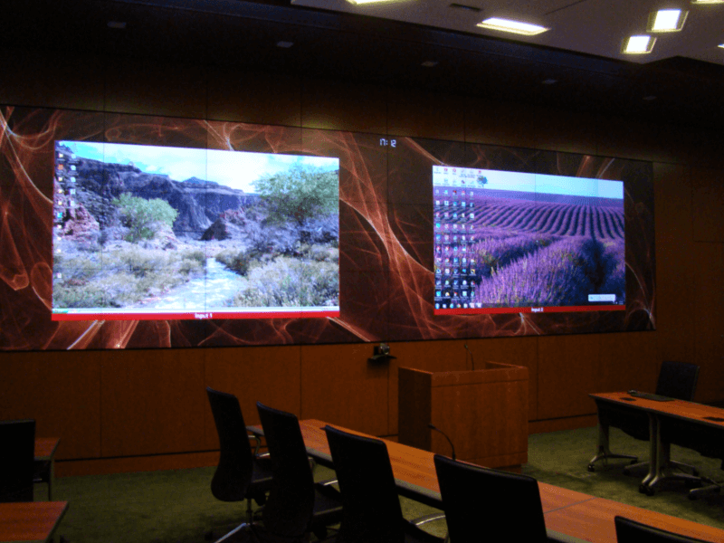 US Army Corps of Engineers EOC dual video screens