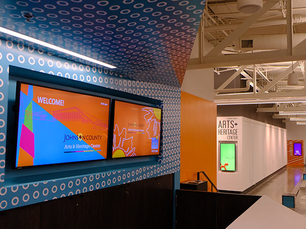 Johnson County Arts and Heritage Center Digital Signage