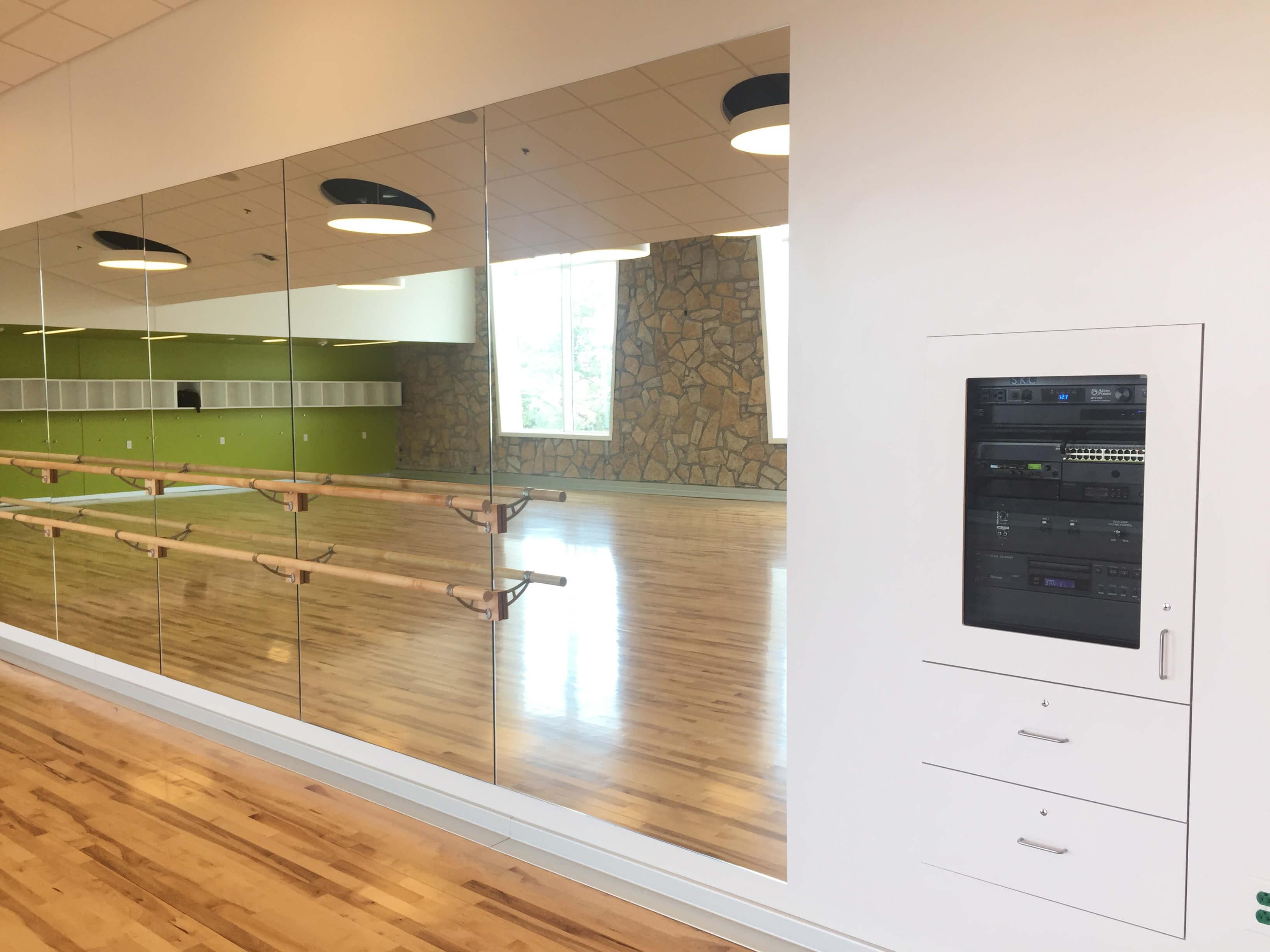 Johnson County Arts and Heritage Center dance studio AV system