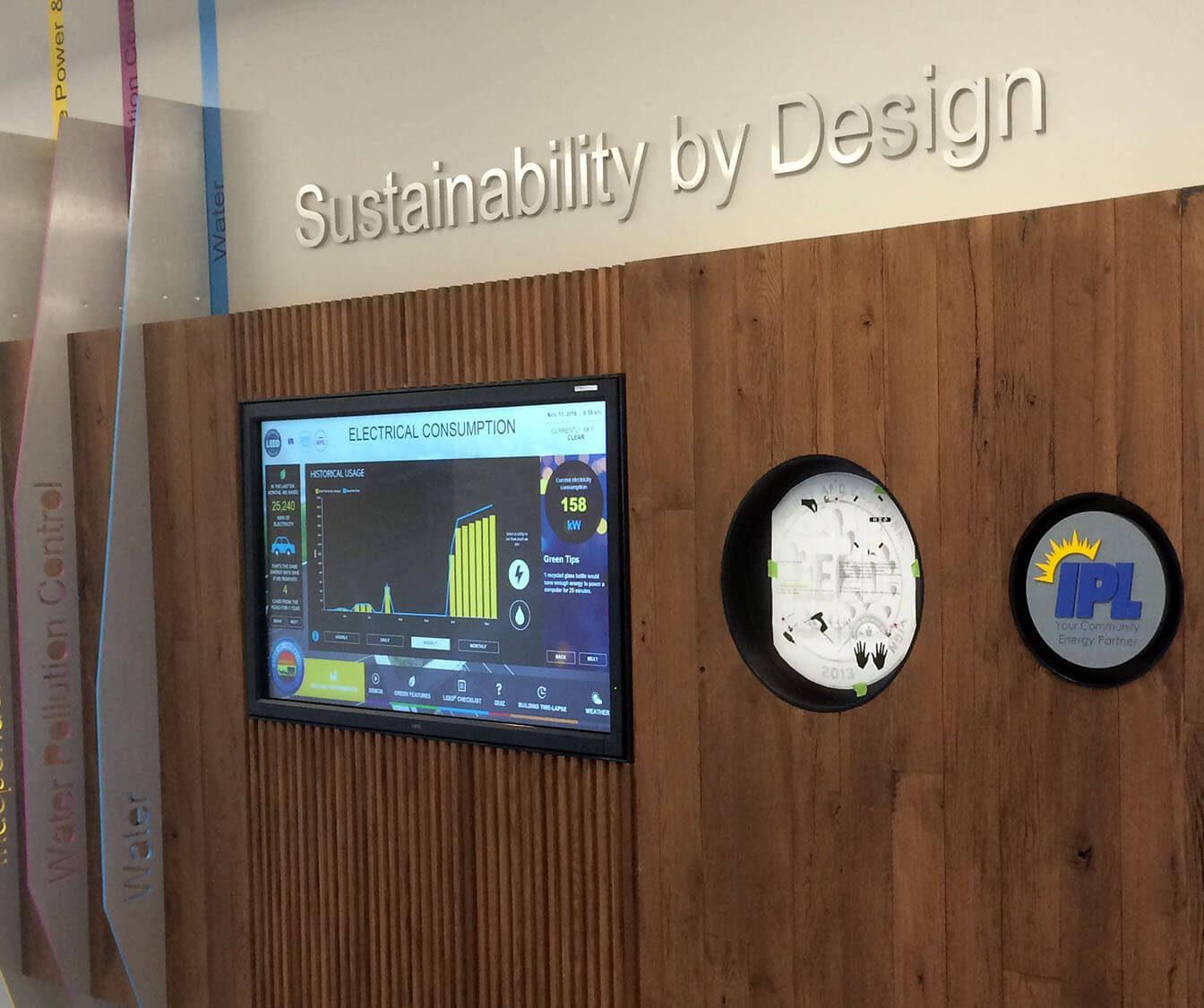 Independence Utilities Building Lobby Digital Display